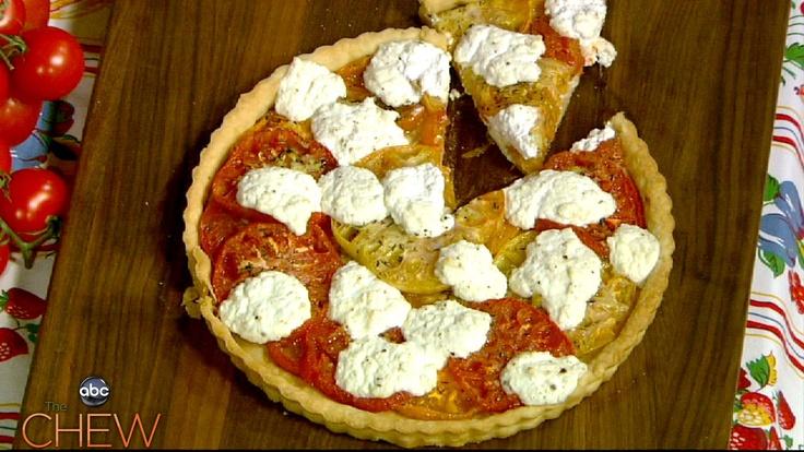 Michael Symon's Heirloom Tomato and Ricotta Tart recipe. #thechew