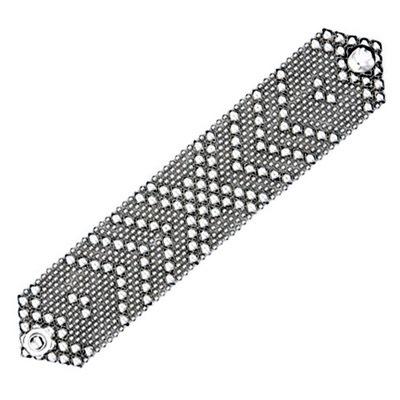 skyler white...    Sergio Gutierrez Liquid Metal Wide Flexible Cuff Bracelet Crossing Arrows B44