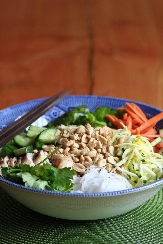 Summer Garden Vermicelli Salad | F O O D | Pinterest