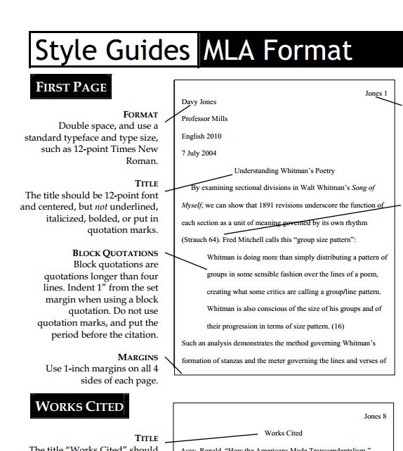 in text mla format website citation