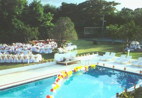 Backyard pool wedding wedding ideas pinterest for Garden pool wedding