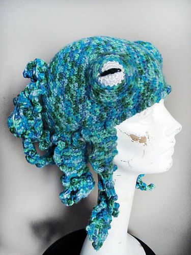 Crochet Octopus Hat : ... Octopus Includes links to #free #crochet patterns Octo-Hat Crochet