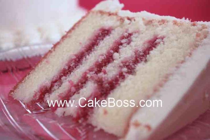 raspberry filling cake