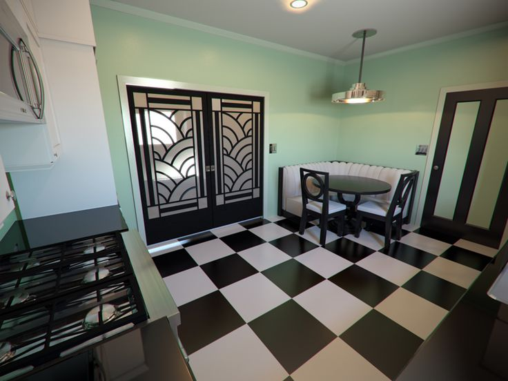 Gorgeous Art Deco Inspired Kitchen Dream Interiors Pinterest