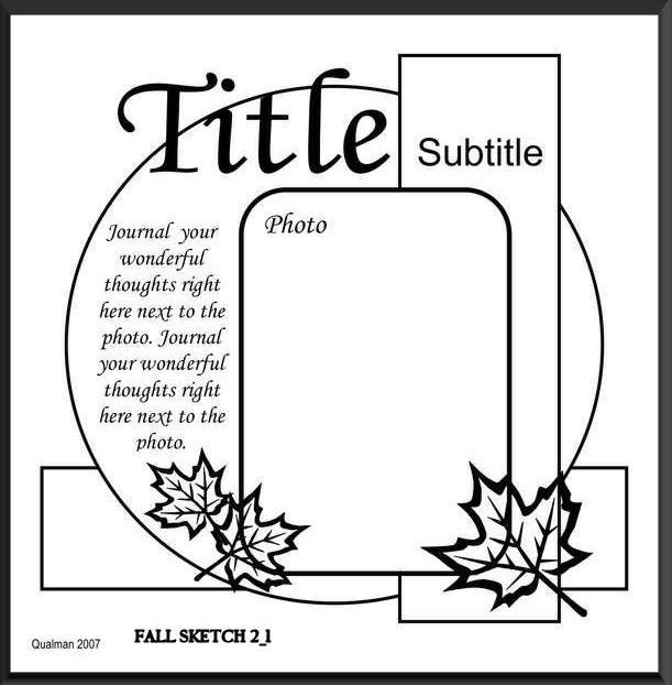 Cricut Inspired Layouts LQ  sketch (Liz Qualman) Sketch Cricut cut file