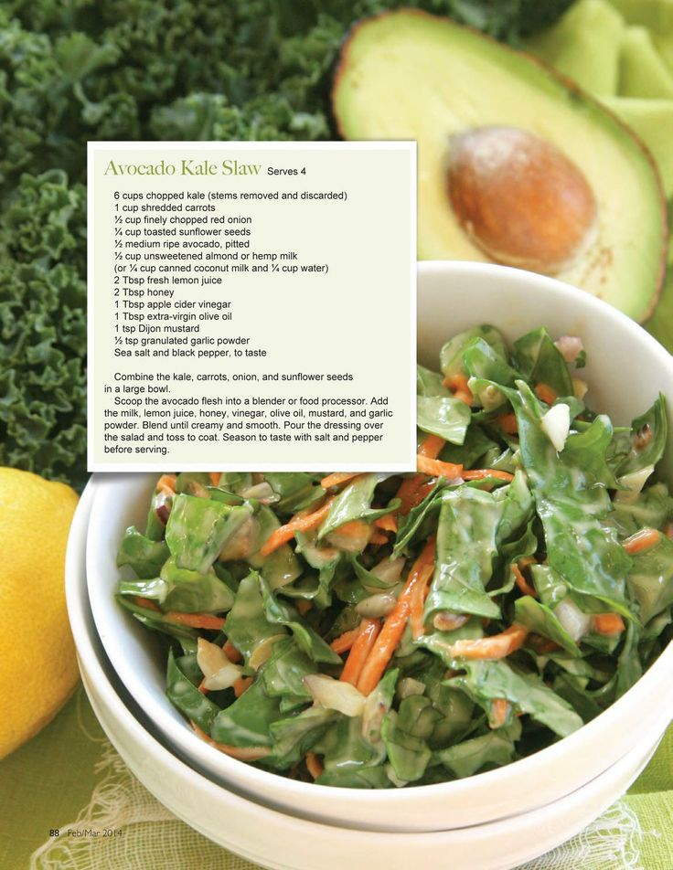 Avocado kale slaw | Ma tummy | Pinterest