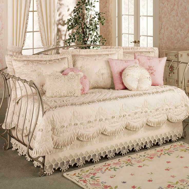 Tranquil garden daybed bedding set daybed 239 t of c in white