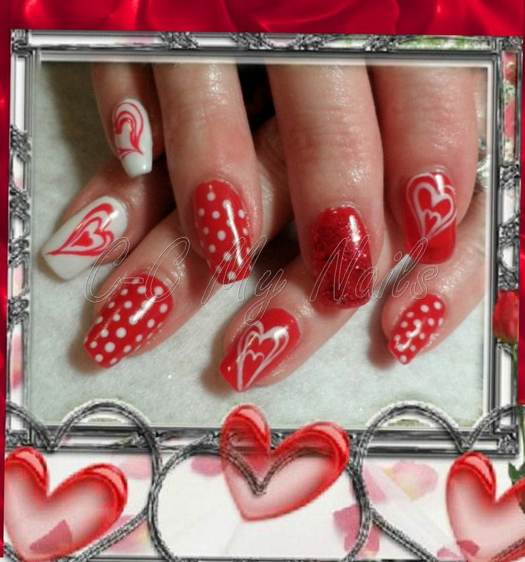 valentine's day nail strips