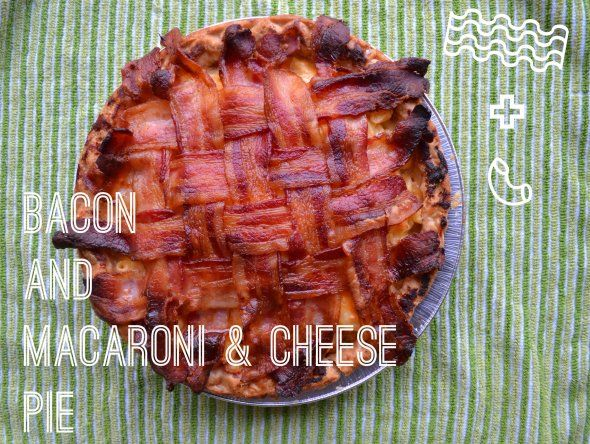 Bacon and Mac & Cheese Pie | Food to make and eat list & Inspirations...