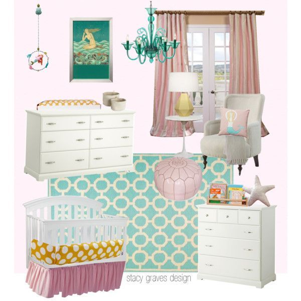 pink and turquoise mermaid nursery