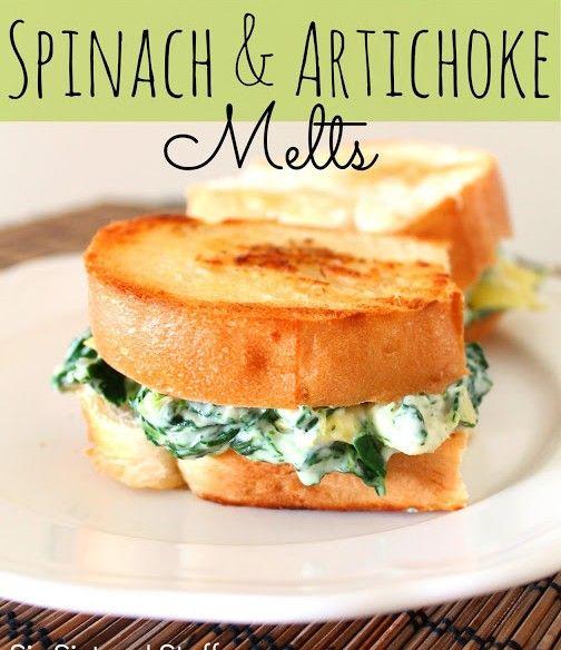 Spinach-and-Artichoke-Melts-Recipe | Recipes | Pinterest