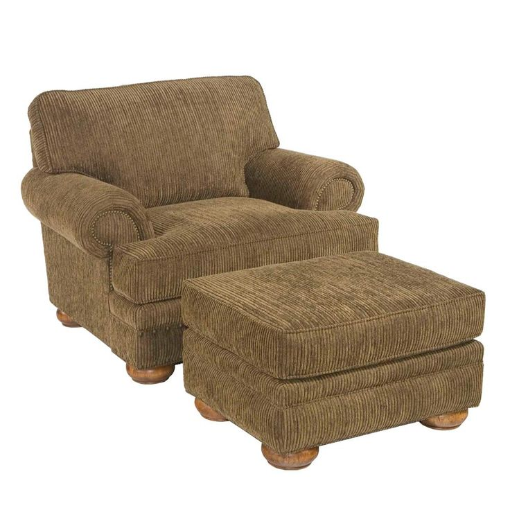 4593 edward chair and a half with ottoman by broyhill furniture