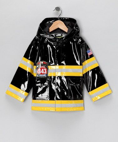 Take a look at this Black Light-Up 'Fire Chief' Raincoat - Toddler & Kids by Western Chief on #zulily today! #fall