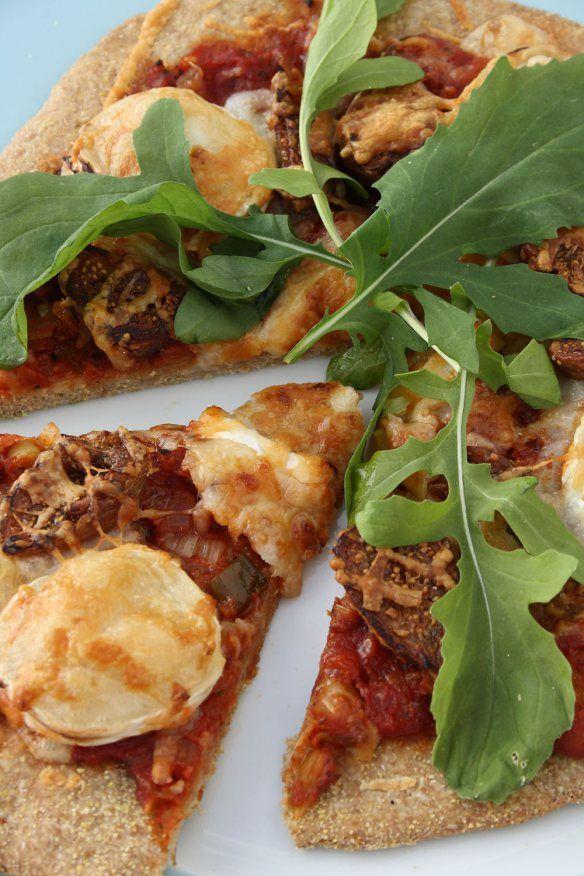 Goats Cheese & Fig Spelt Pizza | Recipes | Pinterest