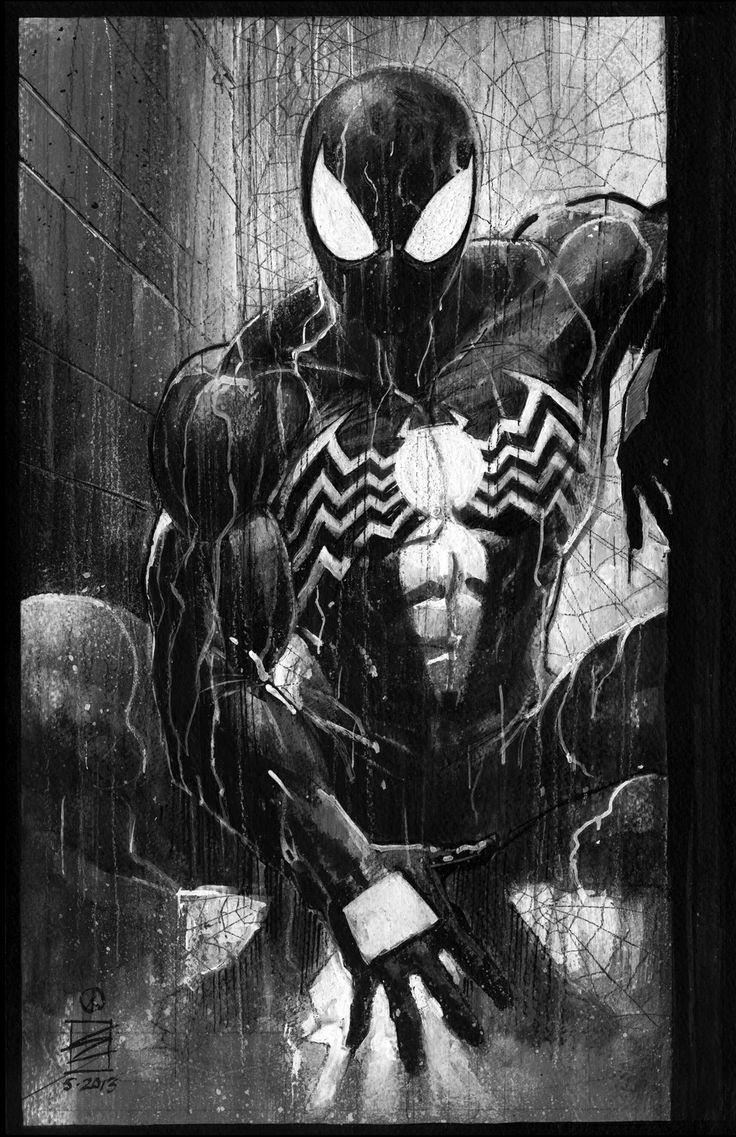 Spiderman black suit comic