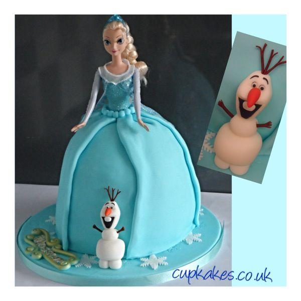 Doll cakes, Elsa doll cake and Dolls on Pinterest