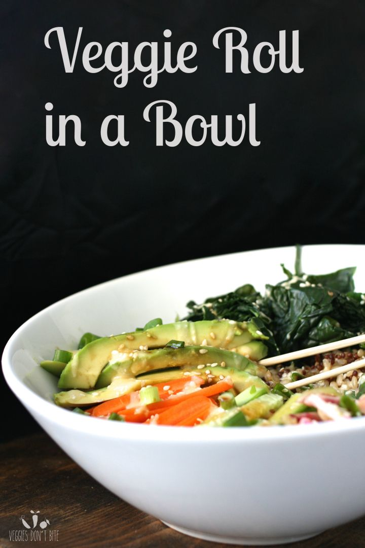 veggie sushi bowl | Veg Out! | Pinterest