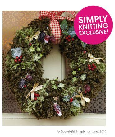 Berry Wreath Deramores Knit & Crochet Holiday Patterns Pinterest