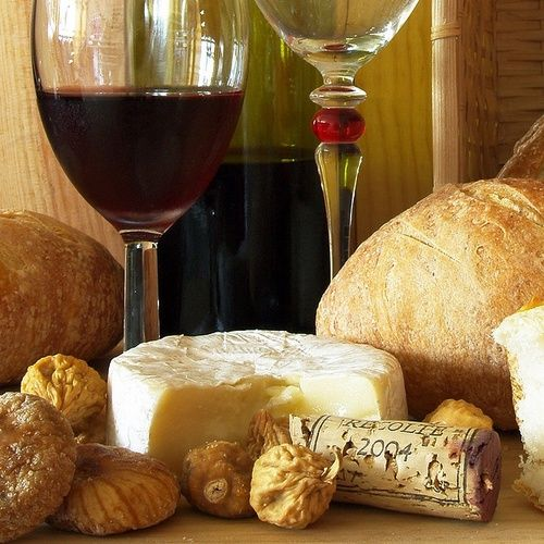 ❤❤❤ wine, bread and cheese | Food