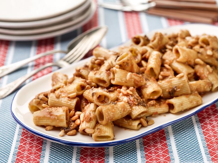 Father's Day Rigatoni with Eggplant Puree Recipe : Giada De Laurentiis ...