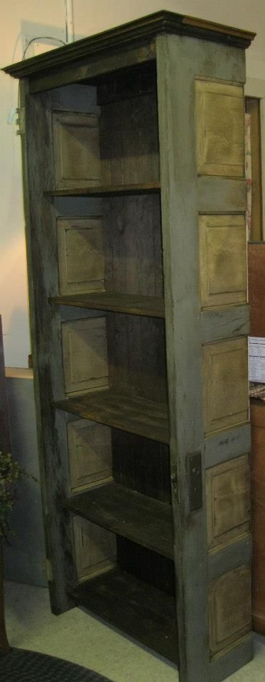 Unique Corner Shelves Made From Old Doors  Ideas For Recycled And Reclaimed