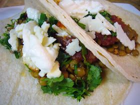 Veggies for Carnivores: Spicy Lentils Tacos