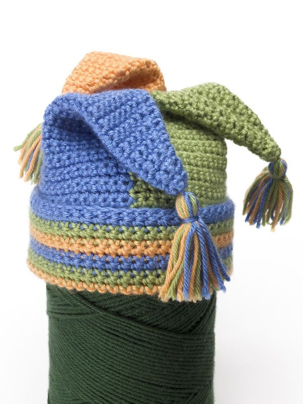 Free Crochet Jester Hat Pattern. Crochet Hat Pattern Pinterest