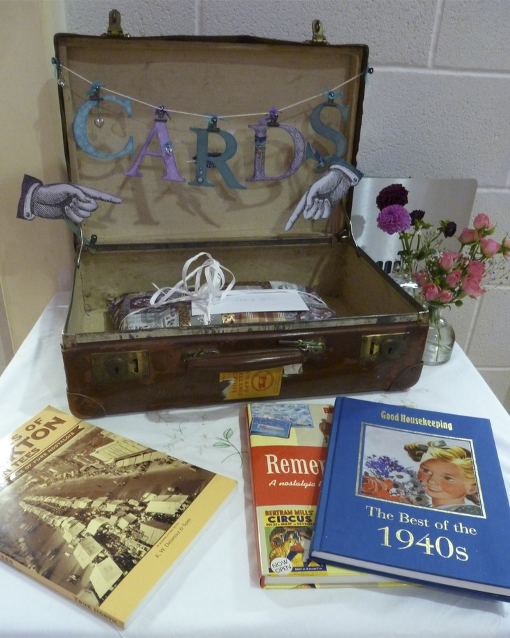 Used Wedding Gift Card Box : suitcase used for card box Wedding ideas Pinterest