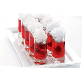 Cosmopolitan Jelly Shots with fairy floss