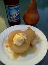 Blue Moon Poached Pears Recipe | Pear recipes | Pinterest