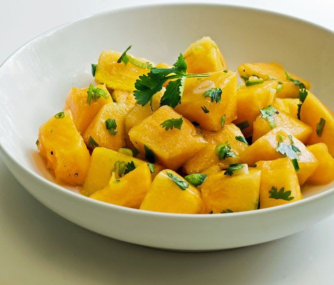 Cooking Weekends: Spiced Cantaloupe Salad