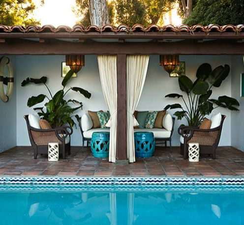 Pin by christy candrea erickson on new house pinterest - Decorating around the pool ...