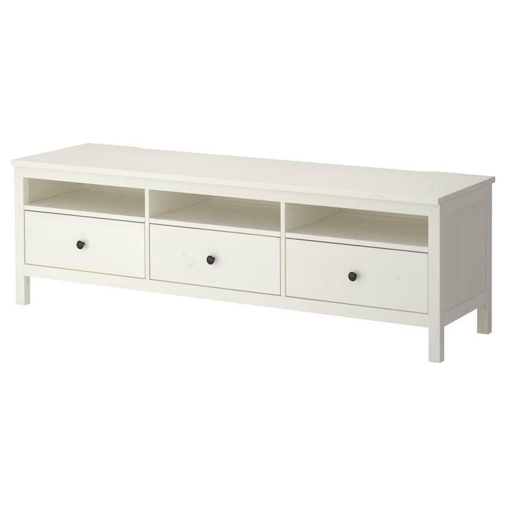 HEMNES TV unit  white stain  IKEA