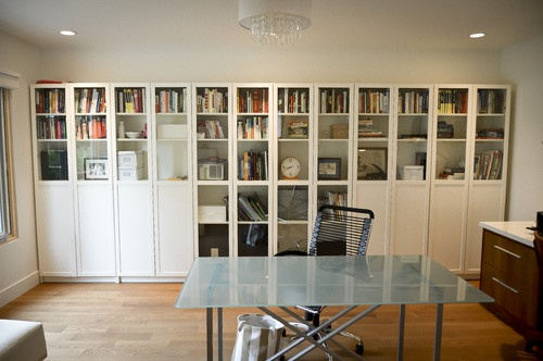 Billy Bookcase Solid Door : Ikea Billy Bookcase With Glass Doors just like i want from IKEA! with