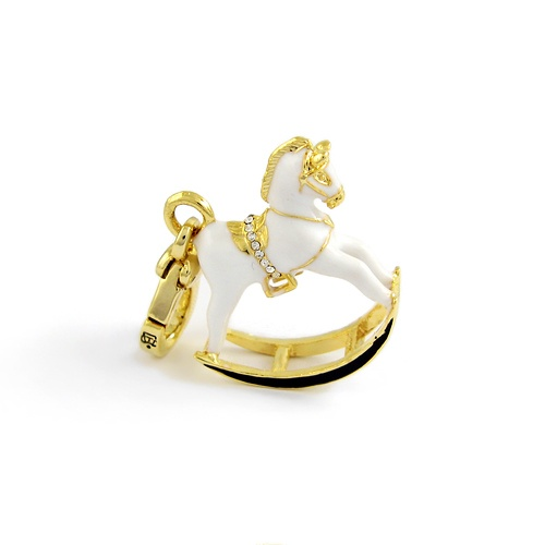 Juicy Couture White rocking Horse #charm