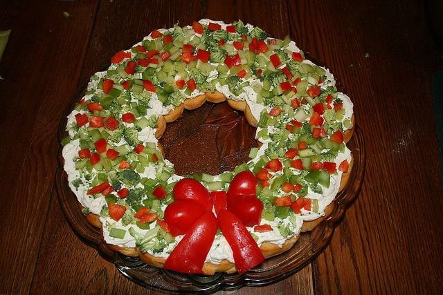 Christmas Appetizer Wreath Holiday Entertaining Pinterest