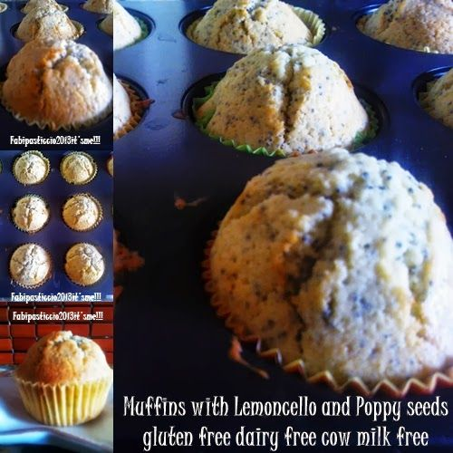 Muffins with Lemoncello and poppy seeds gluten free, dairy free cow ...
