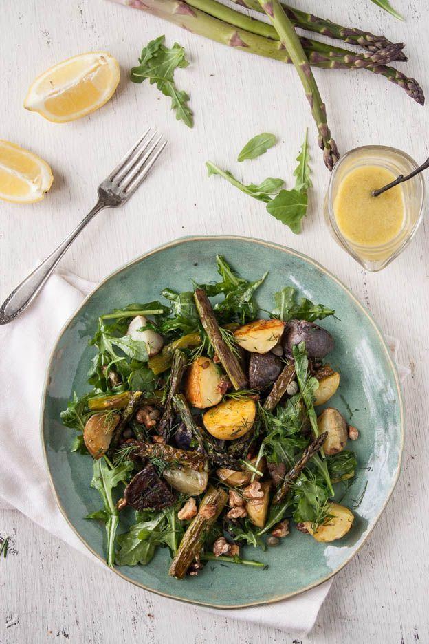 Roasted Asparagus & New Potato Salad with Lemon-Caper Dressing. Gluten ...