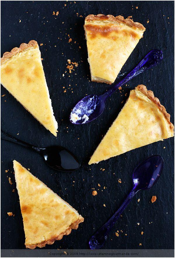 Vanilla and Cardamom-Flavored Flan Tart
