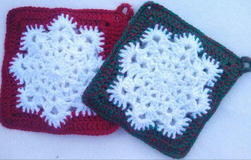 Free Crochet Snowflake Potholder Pattern : Free Snowflake Potholder Pattern Crochet Patterns ...