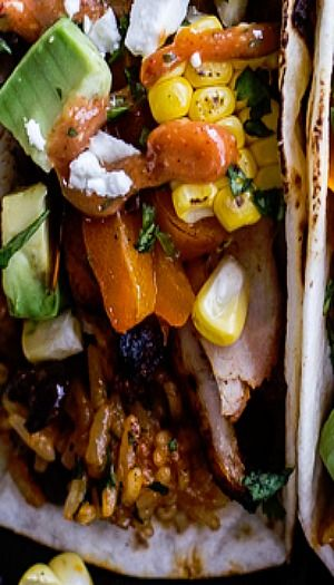 ... Fajitas with Cheesy Enchilada Rice + Spicy Tex-Mex Special Sauce