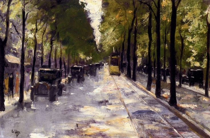 Berlin Street   -  Oil on canvas  Public collection