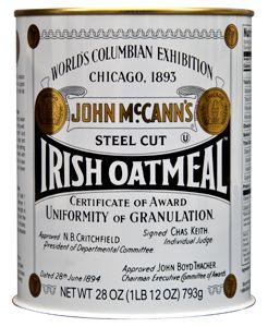 John McCann's Steel Cut Irish Oatmeal
