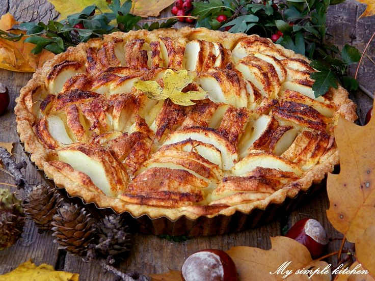 Simple apple tart | My simple kitchen (My cooking blog) | Pinterest