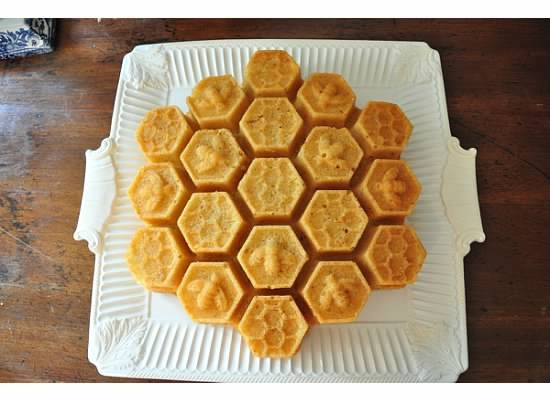 "Honeycomb Cakelets"" Honey Almond Pound Cake (can use a Bundt pan) 4 ..."