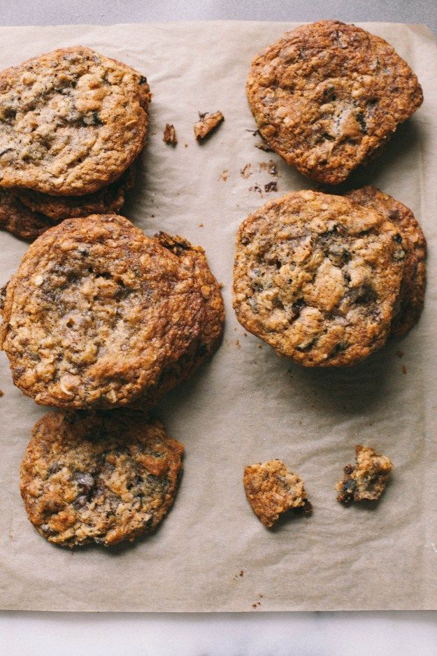 Cardamom Fig Chocolate Coconut Oatmeal Cookies | The Baking Bird