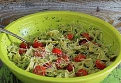 Kale & Toasted Walnut Pesto Pasta with Cherry Tomatoes