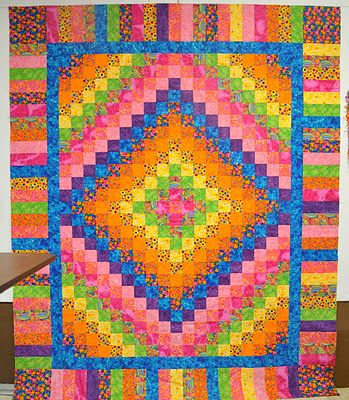 Trip around the world with brights and a wonderful strippy border