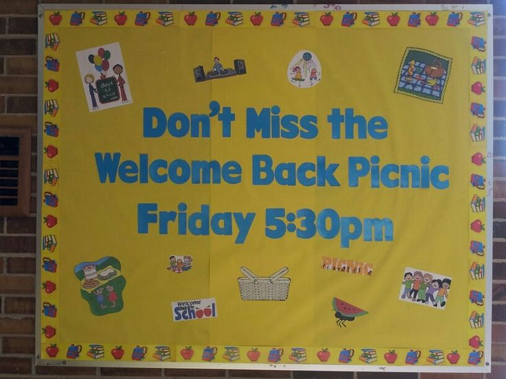 pta welcome back bulletin boards | just b.CAUSE