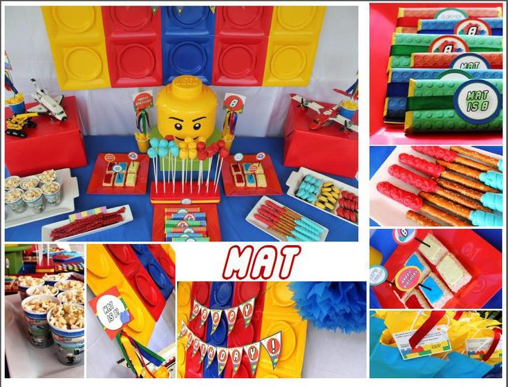 Amazing Lego party!    Styled by #FlairedAffairs using printables from #ReneesSoirees